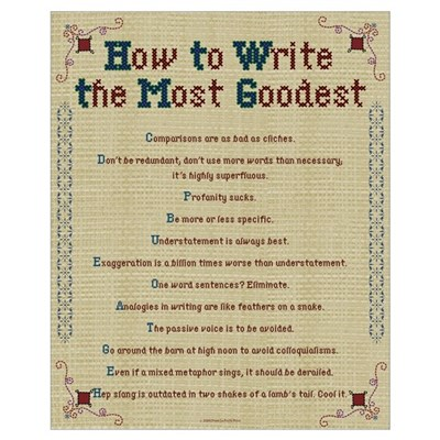 How to Write Most Goodest 16x20,Embroidery S Poster
