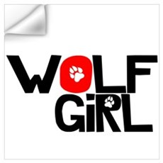 Wolf Girl Wall Decal