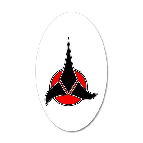 Klingon Symbol 22x14 Oval Wall Peel