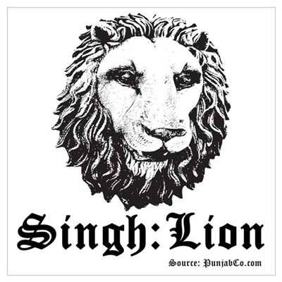 Singh is a Lion Framed Print