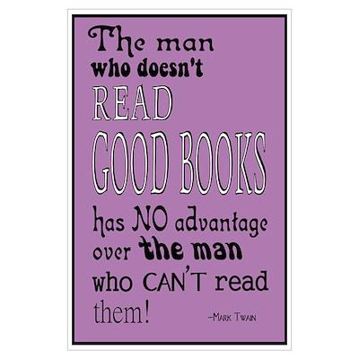 Twain Good Books Purple Poster