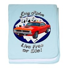 Plymouth Barracuda baby blanket