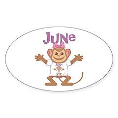 Little Monkey June Decal