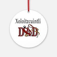 Xoloitzcuintli Dad Ornament (Round)