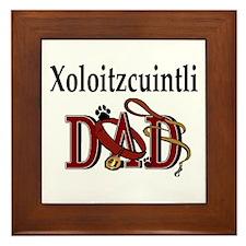 Xoloitzcuintli Dad Framed Tile
