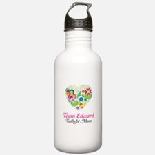 Twilight Mom Floral Heart Water Bottle