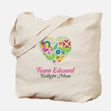 Twilight Mom Floral Heart Tote Bag