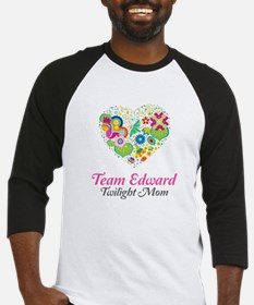 Twilight Mom Floral Heart Baseball Jersey