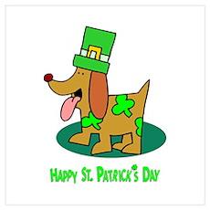 St Patrick's Dog Poster