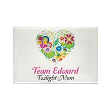 Twilight Mom Floral Heart Rectangle Magnet