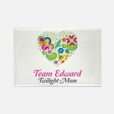 Twilight Mom Floral Heart Rectangle Magnet