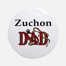Zuchon Dad Ornament (Round)