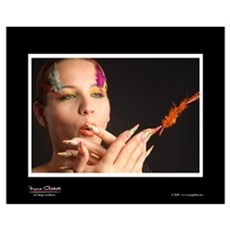 Nail Art - Colored Gel Design Poster