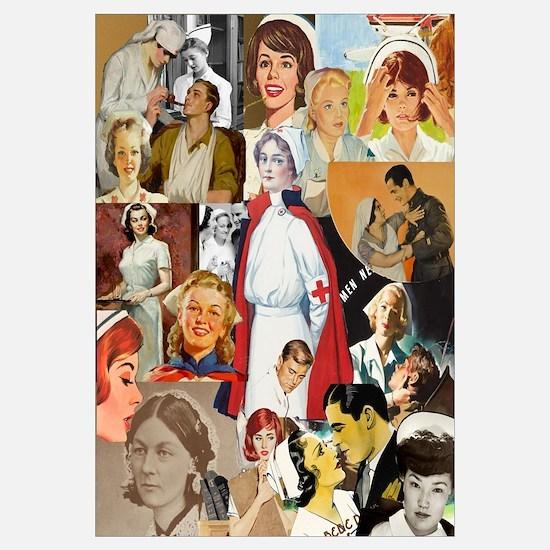 Vintage Nurse Collage 16x20