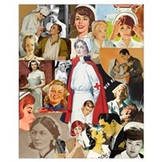 Vintage Nurse Collage 16x20 Canvas Art