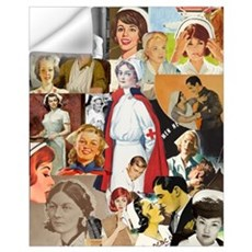 Vintage Nurse Collage 16x20 Wall Decal