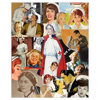 Vintage Nurse Collage 16x20 Poster