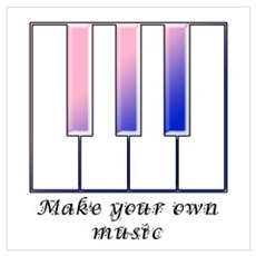 Make your own music Canvas Art