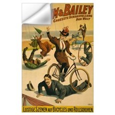 BARNUM AND BAILEY BICYCLE 11x17 Wall Decal