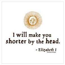 Elizabeth Beheading Quote Poster