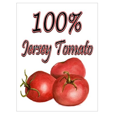 Jersey Girl Jersey Tomato Poster
