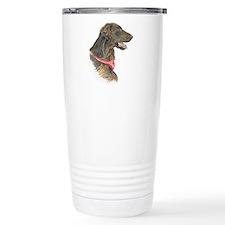 Liver flat-coated retriever ceramic travel mug