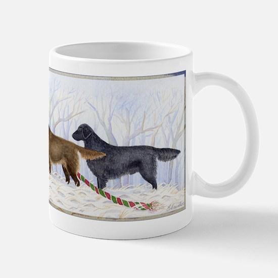 Winter Flat-coated Retriever Mug