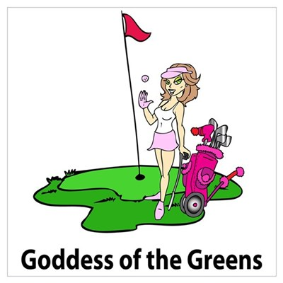 Goddess of Golf Canvas Art