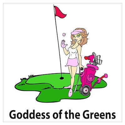 Goddess of Golf Poster