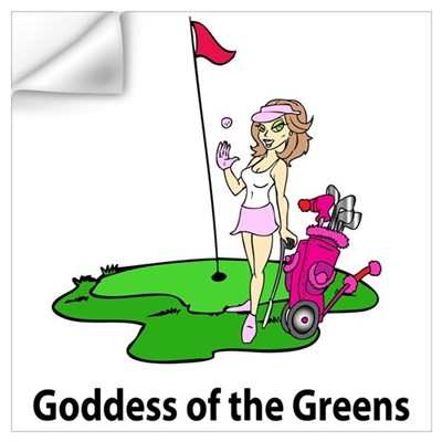 Goddess of Golf Wall Decal