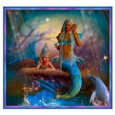 Best Seller Merrow Mermaid Canvas Art