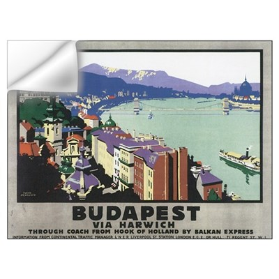 Vintage Budapest Travel Poste Wall Decal