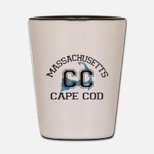 Cape Cod MA - Varsity Design Shot Glass