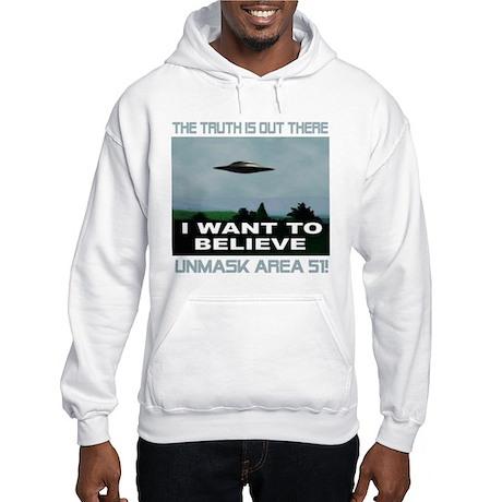 """""""UFO/Area 51"""" Hooded Sweatshirt"""
