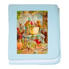 In The Gnomes' Kitchen baby blanket