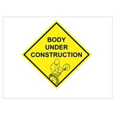 Body Under Construction Canvas Art