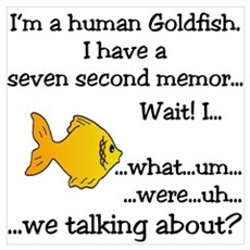 I'm a human Goldfish... Poster