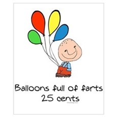 Balloons full of farts.. Framed Print