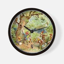 Gnomes, Elves & Forest Fairies Wall Clock