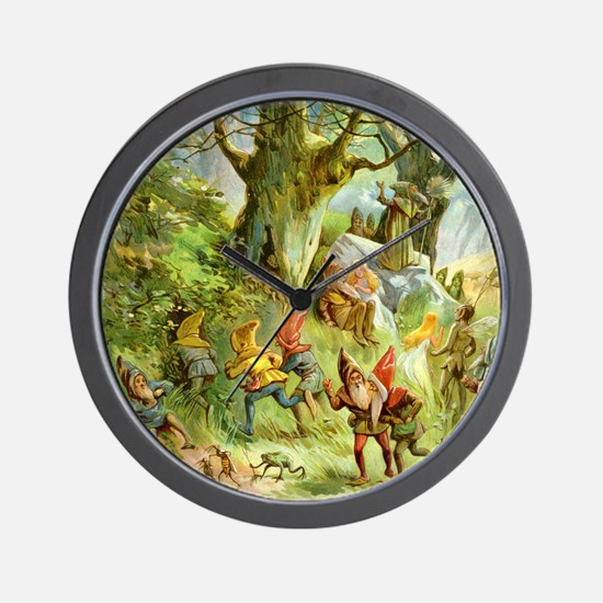 Gnomes, Elves & Forest Fairies Wall Clock