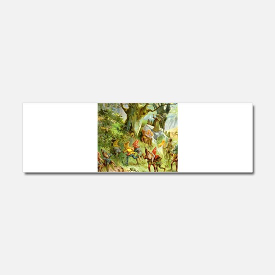 Gnomes, Elves & Forest Fairies Car Magnet 10 x 3