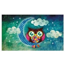 My Crescent Owl Framed Print