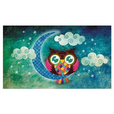My Crescent Owl Canvas Art