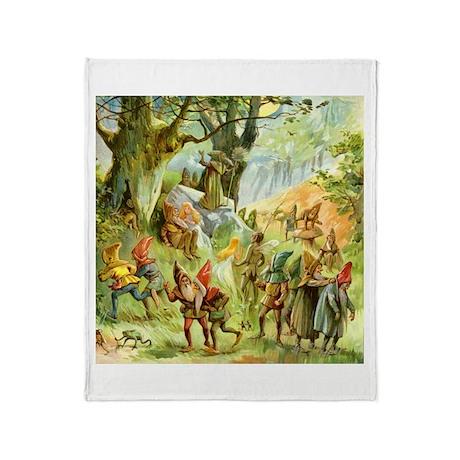 Gnomes, Elves & Forest Fairies Throw Blanket