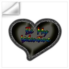 Gay Be My Valentine Wall Decal