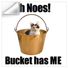 Bucket has cat Wall Decal