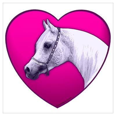 Arabian Horse Heart Poster