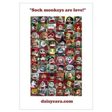 """Sock Monkeys Are Love!"" Framed Print"