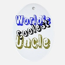 World's Coolest Uncle Ornament (Oval)