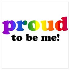 Proud to be me... Framed Print